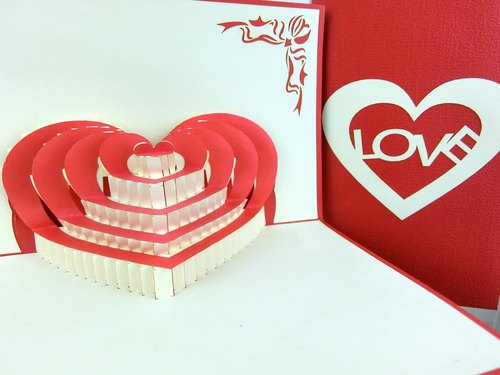 3D stereoscopic love card