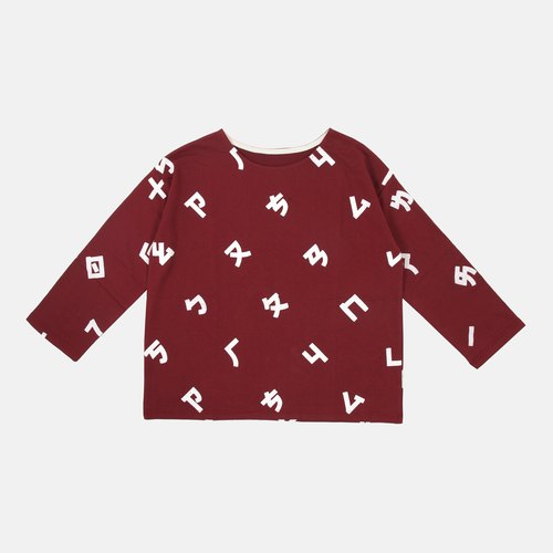 【HEYSUN】Taiwanese secret word /Bopomofo/ phonetic symbols screen printing top-red