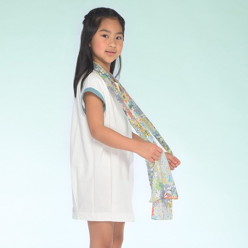 Ángeles-Nature Printing Scarf (Kid size)