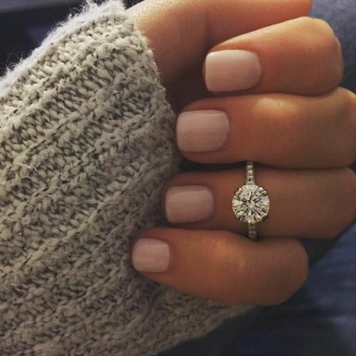 Diamond Band Engagement Ring