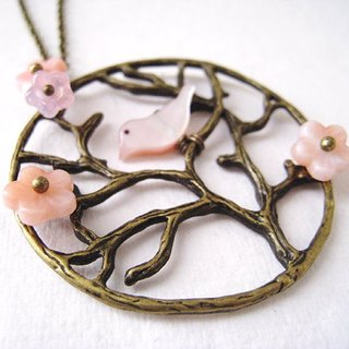 Cherry tree necklace