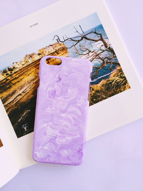 The Color Purple Purple painted iphone mobile phone shell