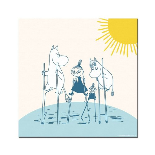 Moomin Moomin authorization - Picture frame 70 * 70cm: [Follow me]