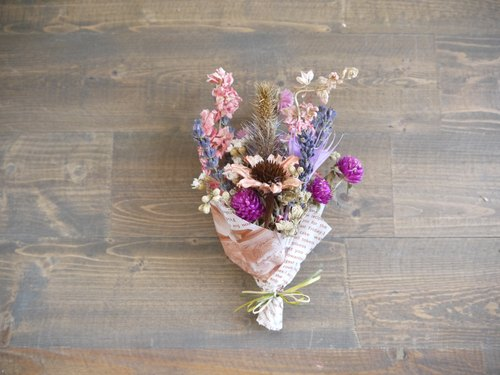 [Swallow] transfer large pink heart dried small bouquet No.12