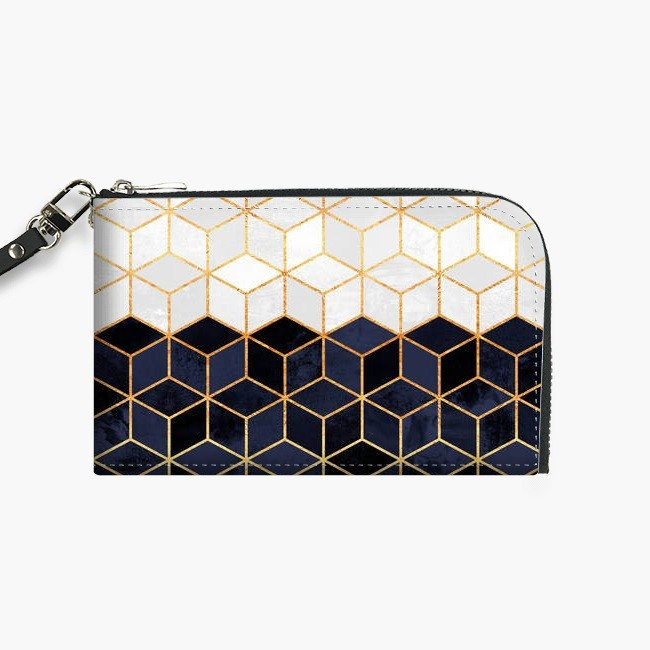 Snupped Isotope - Phone Pouch - White & Navy Cubes