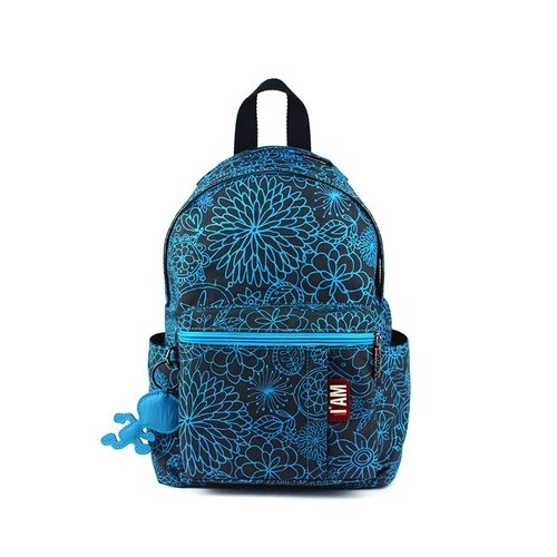 [Free shipping] I AM - After Flora Series NANA S backpack (small) - Turkish blue flowers
