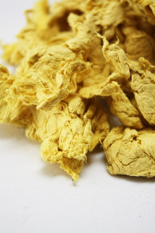 Paper material - yellow pulp (dry)