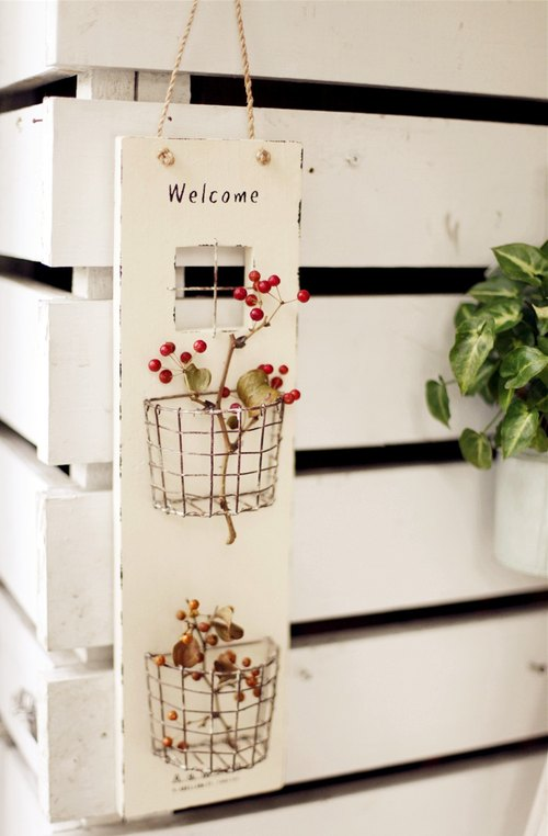 [Good day] grocery Welcomec welcome fetish flower bed hangings