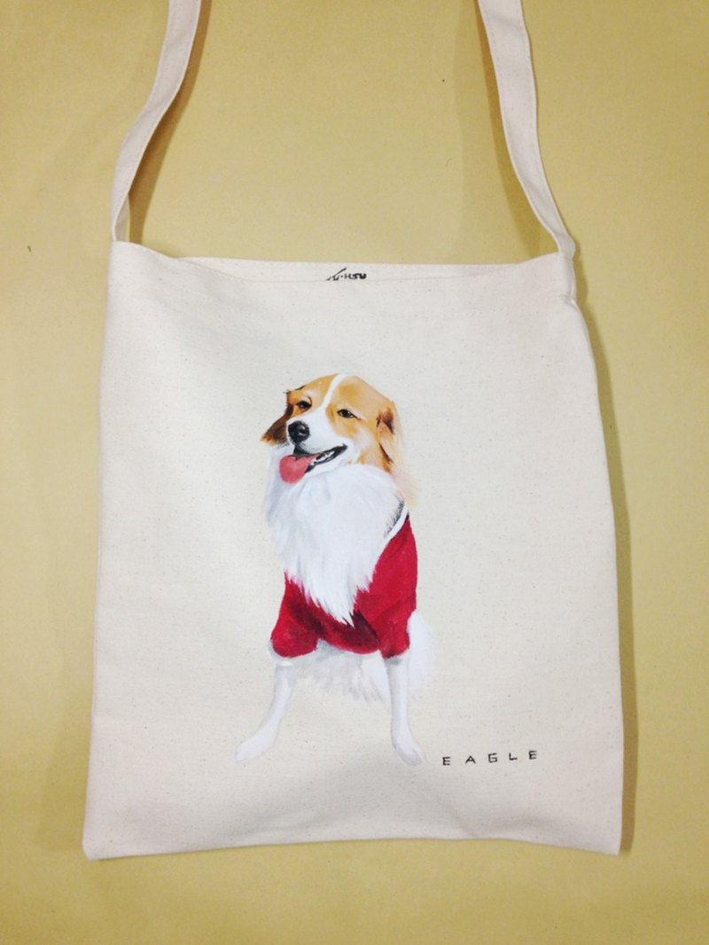 Hand drawn Colour canvas Corssbody bag- Customized a one and only