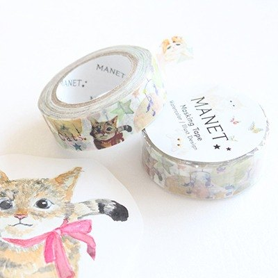 Paper tape - illustration kitty