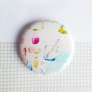 Poetry chemistry experiment badge pin