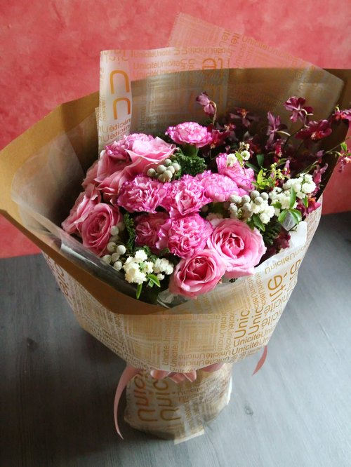 │ │ ♥ flower bouquet for Mother's Day Limited ♥ Masala burgundy packaging Free shipping bouquet ♪ greater Taipei area, the province can Delivery ♪