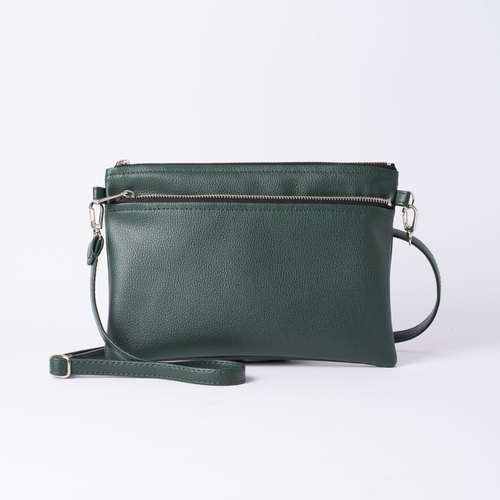 Easy to carry double-sided side of the back / carrying dual-use dark green / dark green