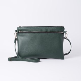 Easy to carry double sided back/hand bag Dual Dark / dark green