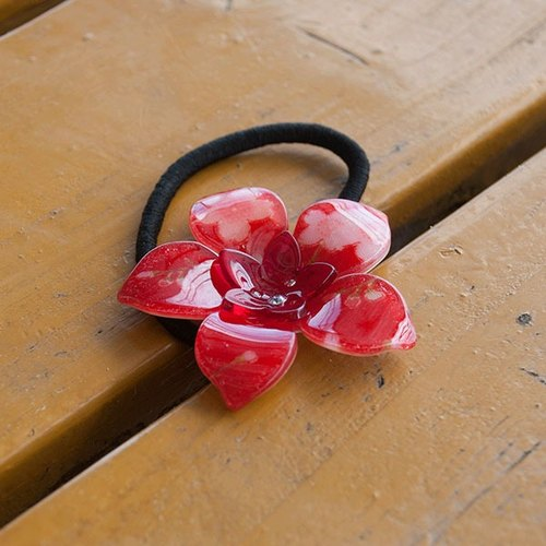 【MITHX】summer dream flower hairband-red