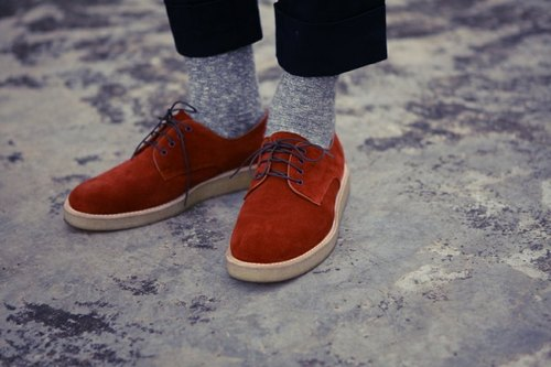 A ROOM MODEL - │ SHOES COLLECTION │ 001- red suede shoes