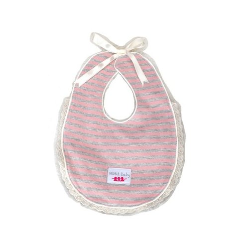 Good Night Series Baby Bib - Pink