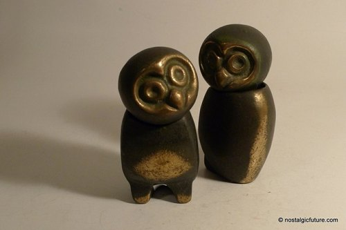 Vintage Solid Brass Owl you looking at me? Divide and sell the copper owl