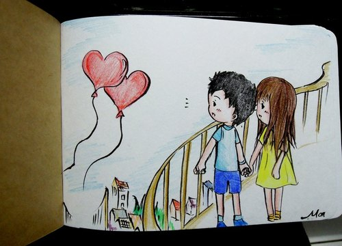 Exchange diary painted this ● love