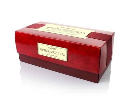 Tea Forte Winter Love chanson favor tea set Winter Spice Ribbon Box