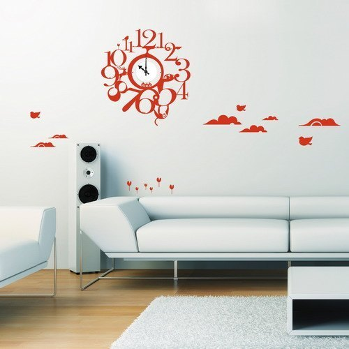 / Animal Park  / Wall Sticker Clock / ECO-Material