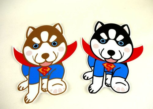 Husky Superman fly spill-resistant matte stickers - to increase money