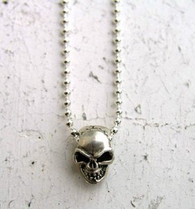 Pre Japanese handmade sterling silver necklace Kensscratch / Name skull-neck