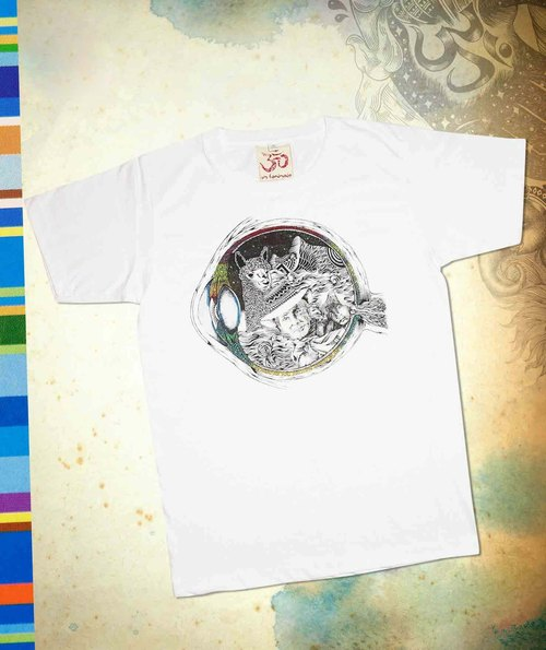 Male version fit to travel T- pupil fantasy world (white)