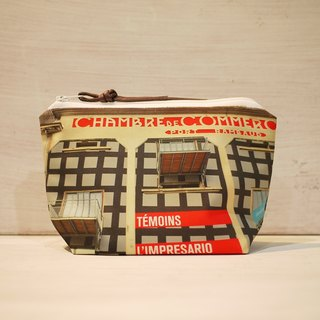 【Traveling Well】Dumpling-type Cosmetic Bag 【Landscape】