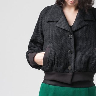 [Jacket] braided short coat jacket