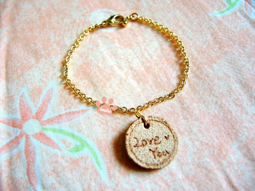 Small round cards Love You Bracelet