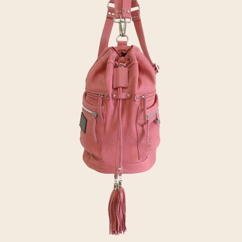 ► Jennifer | shoulder bag ● ash red / Roan cylinder backpack