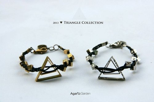 ▲ triangular geometric squares psychedelic weave bracelet