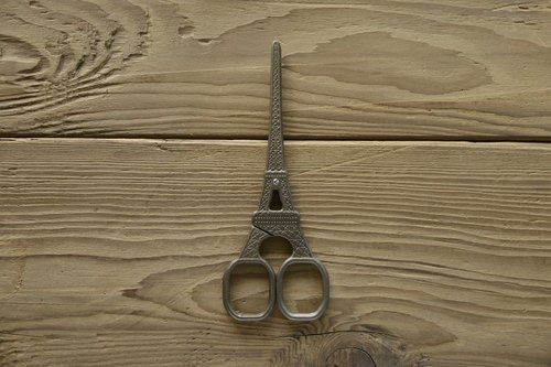 Retro Hand Scissors - Eiffel Tower
