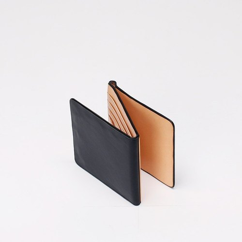 Pure handmade imported Italian leather whole plant melted metal clip short 8 card wallet blue ink • Bodhi said: Fostyle