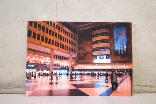Dead wood & amp; CryWood hand-made postcards [011] ─ Taipei Main Station