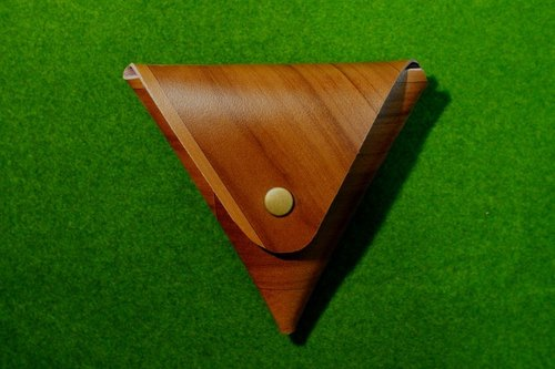 Wood Triangle Purse