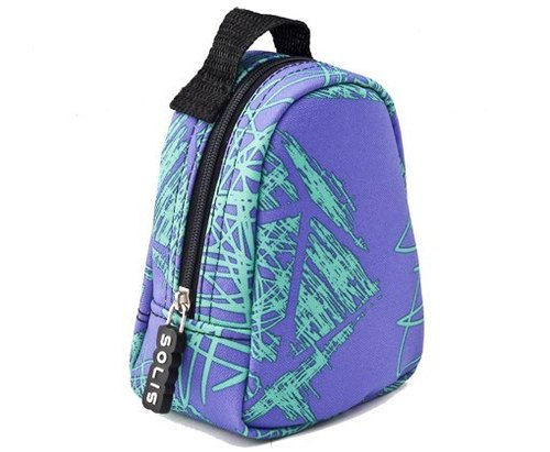 SOLIS [old man joint series] colorful celebration Multifunction Portable Bag (purple graffiti)