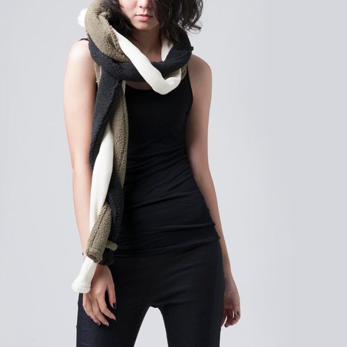 [Scarf] three-color woven scarves