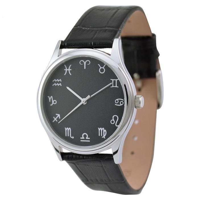 12 constellations watches Black in Silver