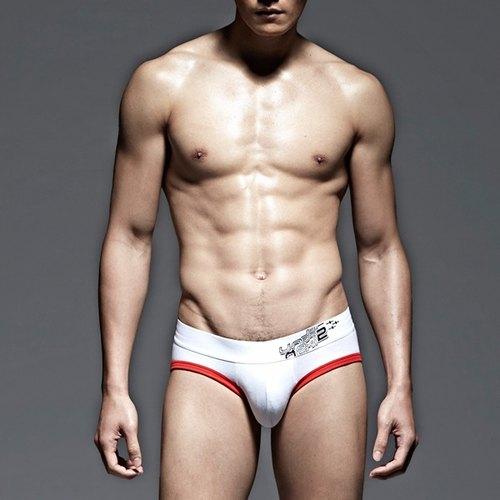 UNDERNEXT2 classic low-waist briefs red