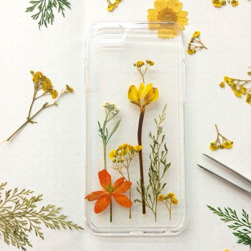 They grass sunset games :: hand made pressed flower Phone Case