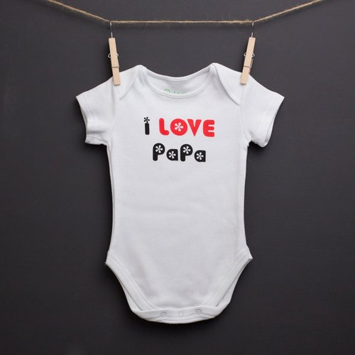 """J-BABY"" I Love Papa short sleeve package fart clothes"