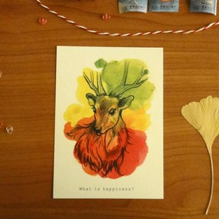 :: :: Xue delicate child deer, sambar reflection postcard / card