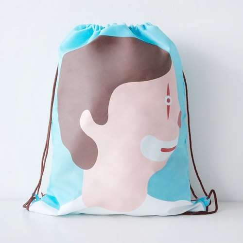 UPICK original product life lovers original printing movement Drawstring Backpack Drawstring clown couple models