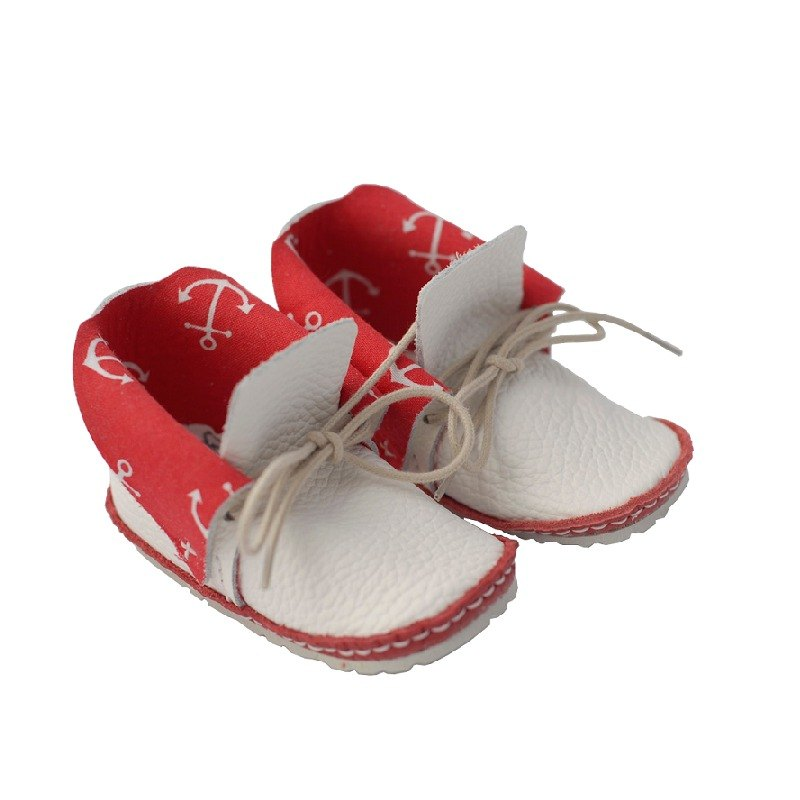 [System] Vicky the Viking Europe - Liege Red First baby shoes handmade leather toddler shoes
