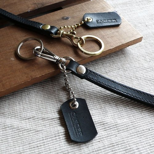 """CANCER popular experiment"" badge strap / key ring / strap / lanyard"