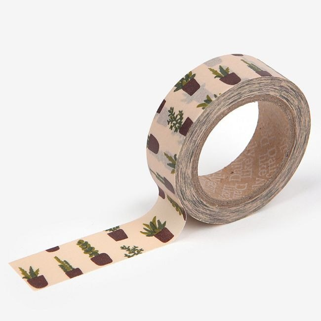 Dailylike-Single Roll Tape 30-Succulents, E2D20639