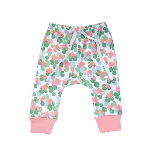 【Sapling】Jaime King for Sapling collection Organic Cotton Pants - Floating Lotus (6 - 12 months)