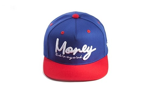 Simple in your heart 2014S plain basic blue and red embroidery LOGO-